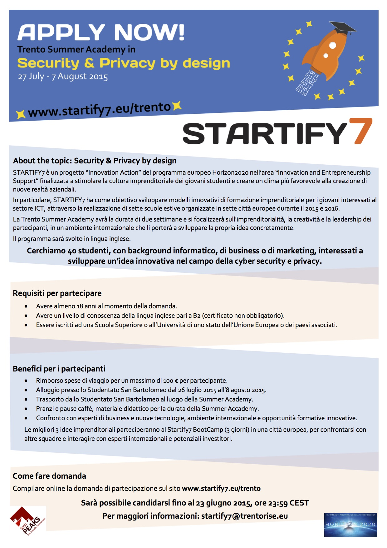Startify7 - Security&Privacy by design Academy (IT)